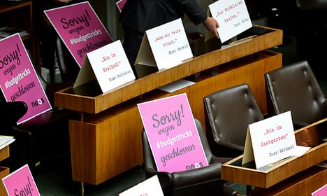 MPs told off for 'undignified' protests