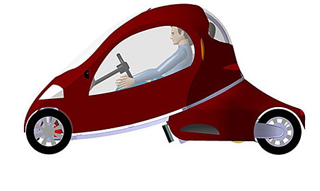 Student invents folding 'origami' car
