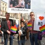Protesters came together under the banner 'ToRussiaWithLove', joining a campaign initiated in Denmark in August 2013, to draw attention to the plight of Russia's LGBT community.Photo: Kim Traill