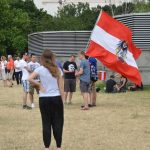 A key theme of the protests was to support integration with Austria - many Austrian flags were also present.Photo: Paul Gillingwater