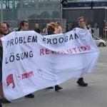 Some of the banners called for a revolution.Photo: Paul Gillingwater