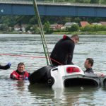 Search on for driver who plunged into Danube