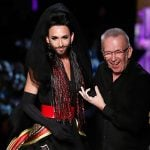 """Conchita Wurst made her modelling debut, walking at the Jean Paul Gaultier Couture show in Paris. """"I always say that beauty is difference and Conchita has shown us all that she is unstoppable,"""" Gaultier said.Photo: APA"""