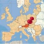 <b>Why is Austria... so small?</b> The country measures 83,871 sq km, which out of 249 countries makes it the 115th largest - so by most of the world's standards, Austria is actually a decent-sized nation. What many Americans may observe is that Austria looks a lot like the American state of Kentucky. On a map, both pieces of land resemble a chicken drumstick. Kentucky, however, is 104,659 sq km, so that drumstick is more likely to satisfy your hunger.Photo: Vienna4U