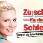 'Too pretty for a veil.'  Right-wing Freedom Party continues its opposition to the burqa and similar religious headwear, which it believes demean women.Photo: Austrian Freedom Party
