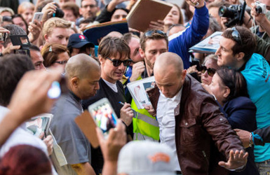 'Angry rampage' on Tom Cruise film set