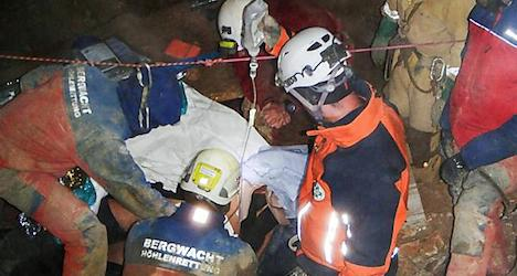 Injured caver rescued from Tennen mountain