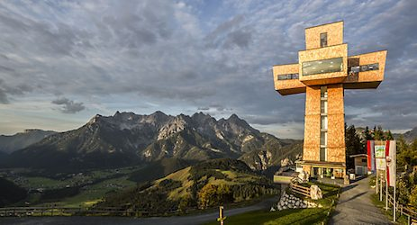 Massive cross unveiled in Tyrol