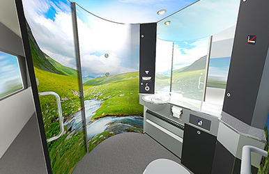 The train toilet that smells 'like space'