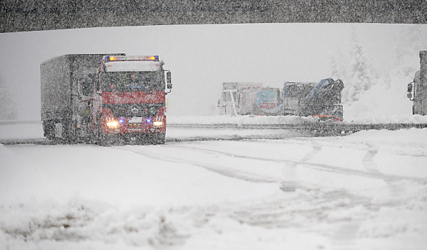 Snow causes chaos in western Austria