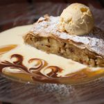 Apfelstrudel (apple strudel) is said to have become an Austrian classic after the Siege of Vienna by the Turks. The strudel is usually made from the same puff pastry that is used in Turkish baklava. It's best eaten warm, with vanilla sauce or lashings of whipped cream and a frothy Melange coffee. Photo: Erik van den Ham