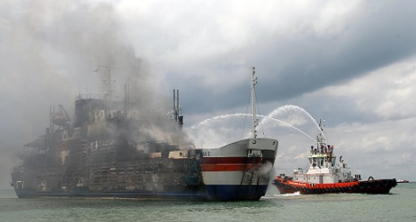 Austrians among those trapped on burning ferry