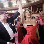 Canalis' breast slips out at Opera Ball