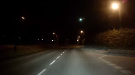 Meteor lights up skies over the Alps