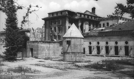 The Führerbunker in 1947 before it was destroyed. Photo: Wikimedia Commons
