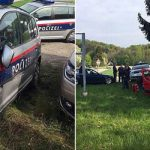 Two police officers injured in wild car chase
