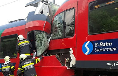 Train crash leaves one dead and eight injured
