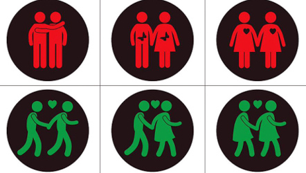 Right-wing politicians against gay traffic lights