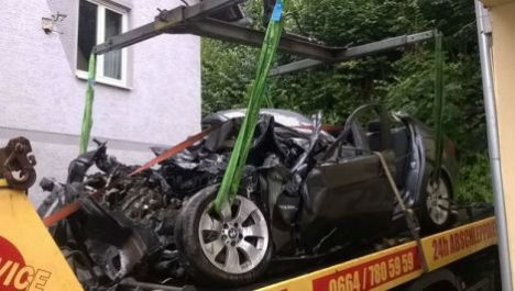 Mystery of double murder and car crash