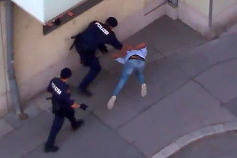 Video shows alleged police violence in Vienna