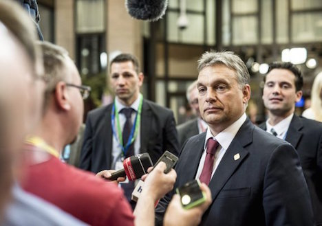 Hungary's Orban faces off against refugees