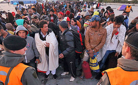 Resources stretched as 20,000 refugees arrive