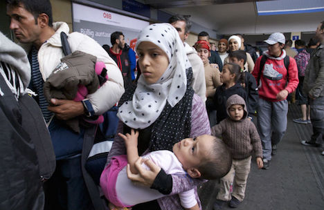 Border town inundated with refugees