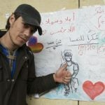 """Abdulrahim Alsbsbe, 23, from Damascus, is grateful to Austria and the Austrians for """"treating him and his friends with kindness"""".Photo: Kim Traill"""