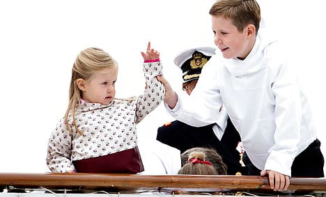 Prince Christian with younger sister Princess Josephine in Greenland earlier this year. Photo: Keld Navntoft/Scanpix