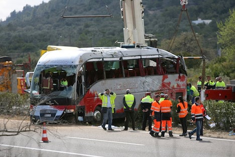 Two Austrian women die with 11 others in bus crash