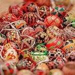 Hand-painted Easter eggs are featured at the market, many of them coming from nearby Slovakia and regions of Hungary and the Czech Republic.Photo: Jerry Barton