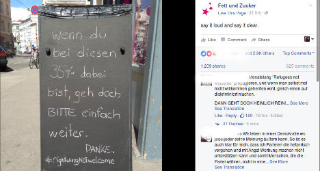 Cafe removes anti-right wing sign after threats