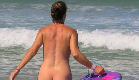 Austrians world's best at baring all on the beach