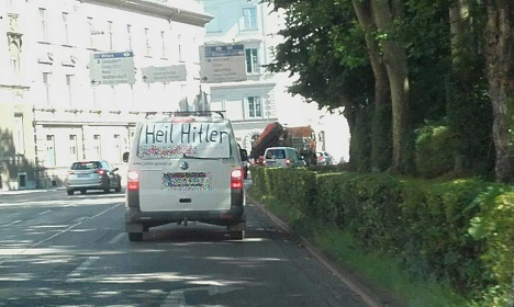 Outrage at van with Nazi slogan in Graz