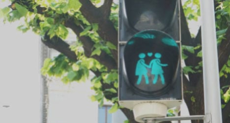 Vienna's gay-themed lights made into t-shirts