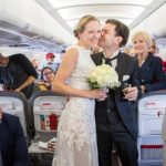 Couple get hitched on plane in surprise wedding ceremony