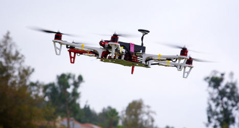 Drone nearly collides with Austrian rescue helicopter