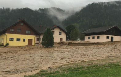 Homes in Carinthia swamped in mud after storms