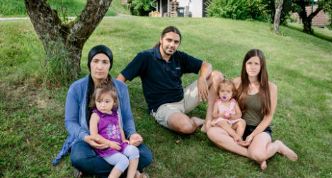 Afghan mother and child land on their feet in Austria