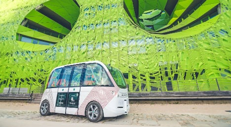 Driverless bus takes a spin around Salzburg's old town