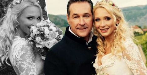 Austrian far-right leader weds for second time