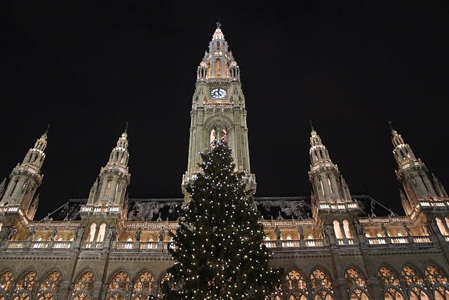 Iconic Christmas tree in front of Vienna's Rathaus taken down