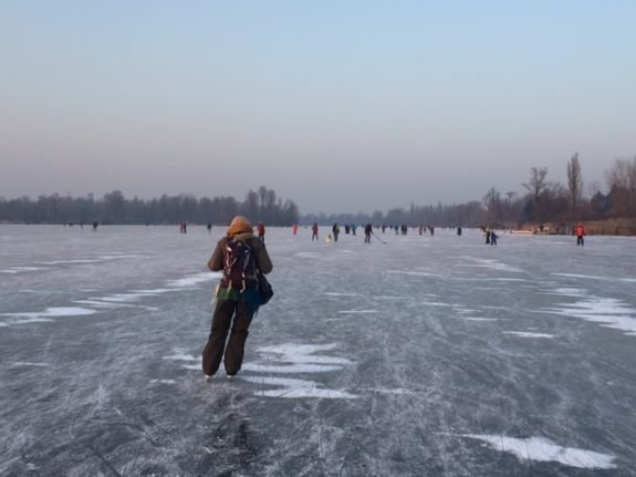 Cold weather turns Austria into an ice-skater's paradise