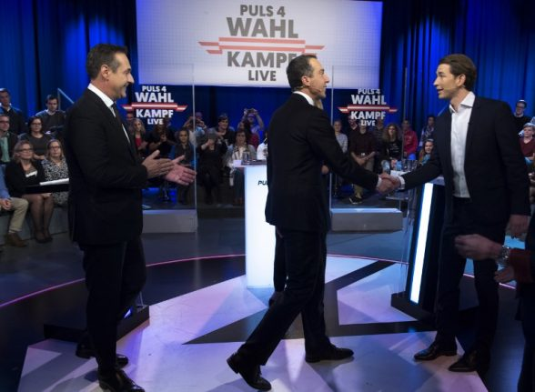 Austrian party chiefs trade angry exchanges in pre-election debate