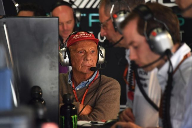 Austrian Formula One legend Niki Lauda climbs back into the cockpit of the airline he founded