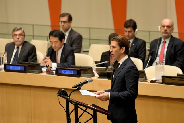 Sebastian Kurz rejects UN migration pact