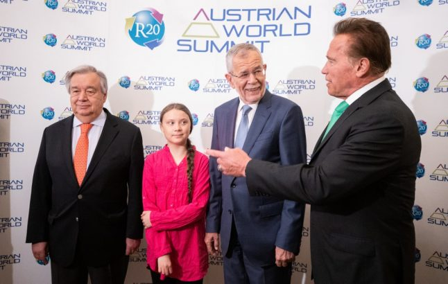 Greta Thunberg joins Arnold Schwarzenegger in call for climate action