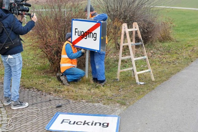 The town formerly known as: Austria's renamed 'Fugging' dreams of the quiet life
