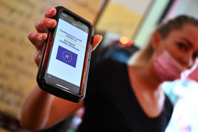 Italy records over one million Covid green pass downloads in a day