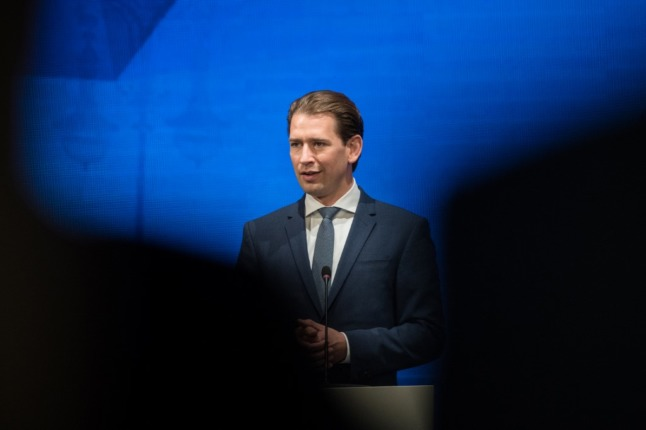 Sebastian Kurz rejects allegations he was involved in making deals with the Österreich newspaper (Photo by STEFANIE LOOS / AFP)